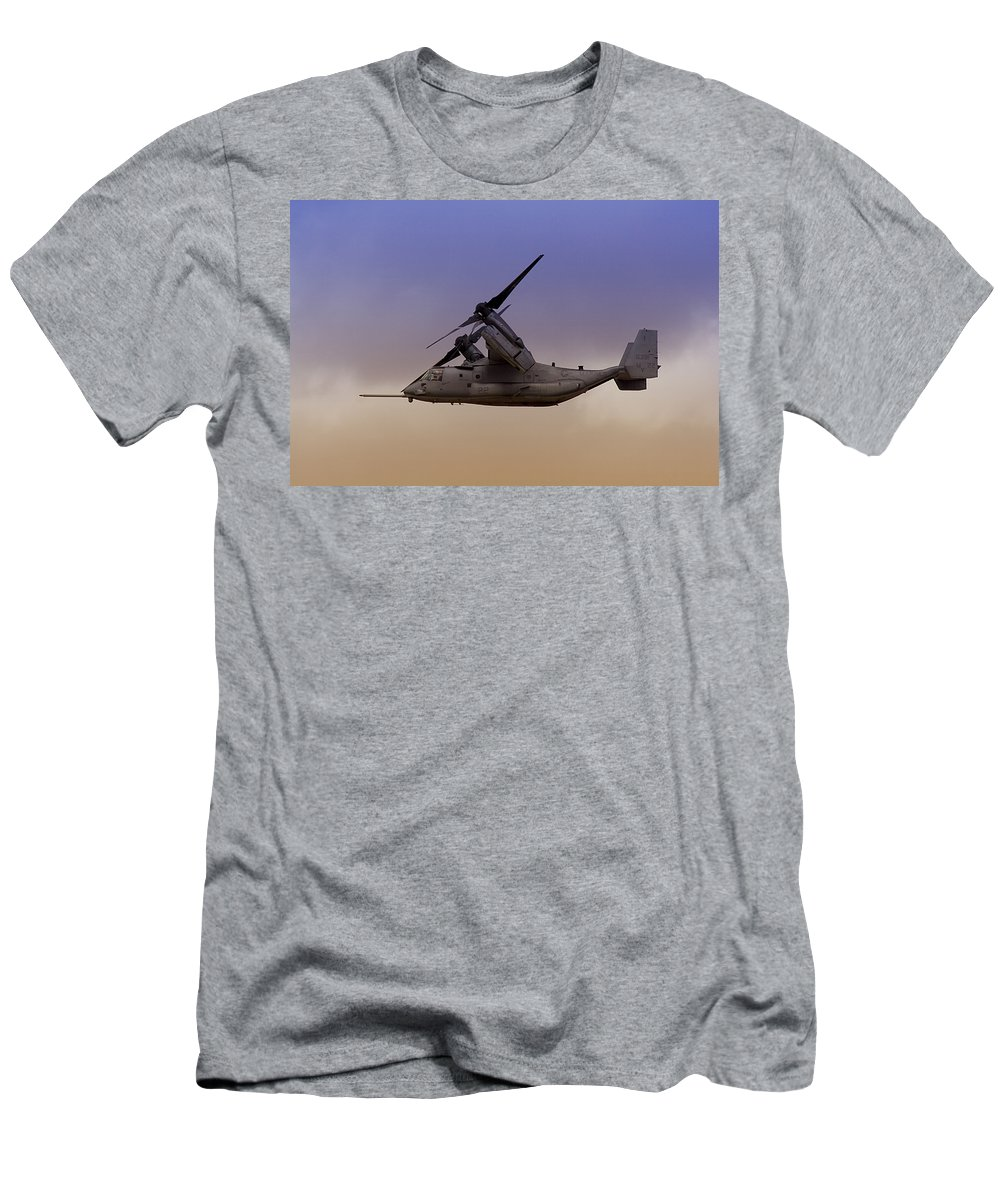 Advanced Men's T-Shirt (Athletic Fit) featuring the photograph Osprey In Flight IIi by Ricky Barnard