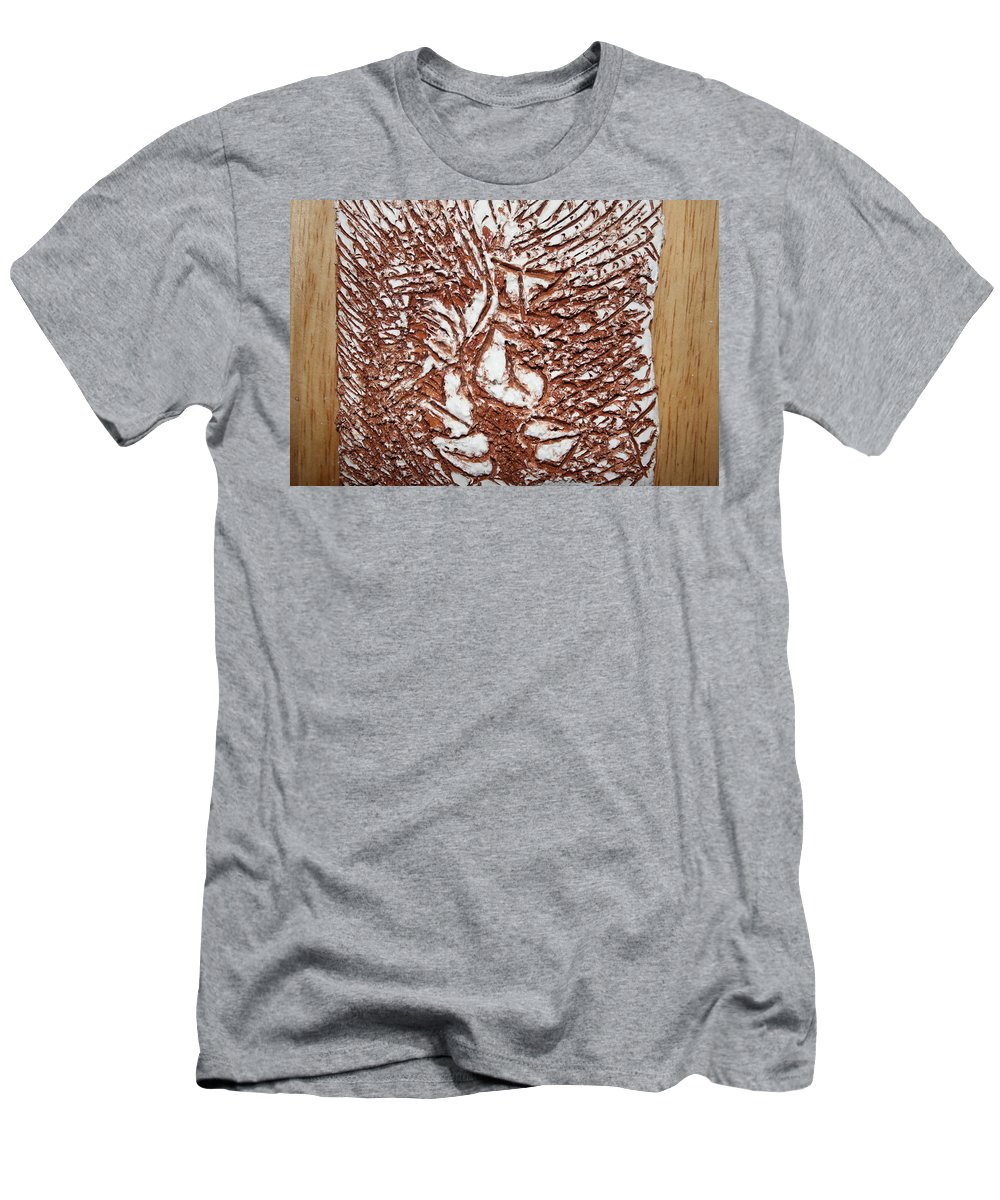 Jesus Men's T-Shirt (Athletic Fit) featuring the ceramic art Ours - Tile by Gloria Ssali