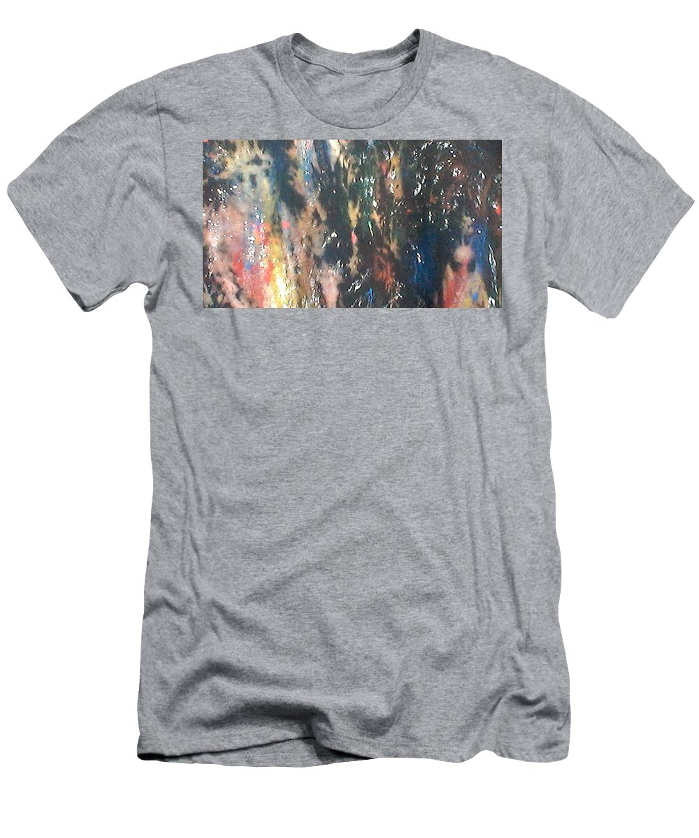 Abstract Men's T-Shirt (Athletic Fit) featuring the tapestry - textile Outer Limit by Dianna Freeman