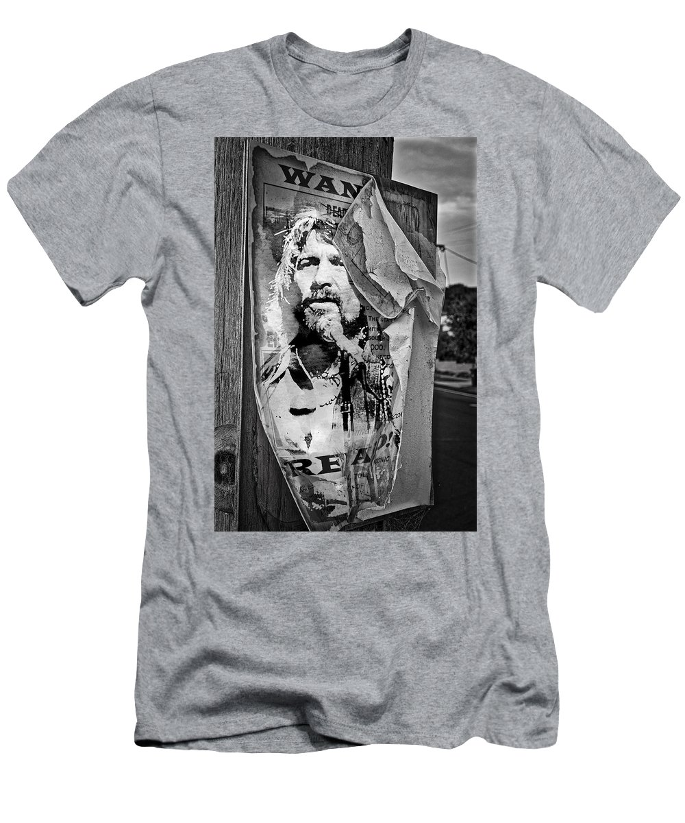 c922f916 Waylon Jennings Men's T-Shirt (Athletic Fit) featuring the photograph  Outlaw Waylon Jennings