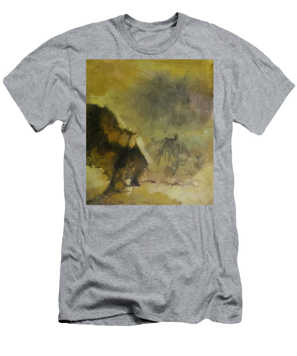 Outworld Men's T-Shirt (Athletic Fit) featuring the painting Outworld by Melissa Herrin