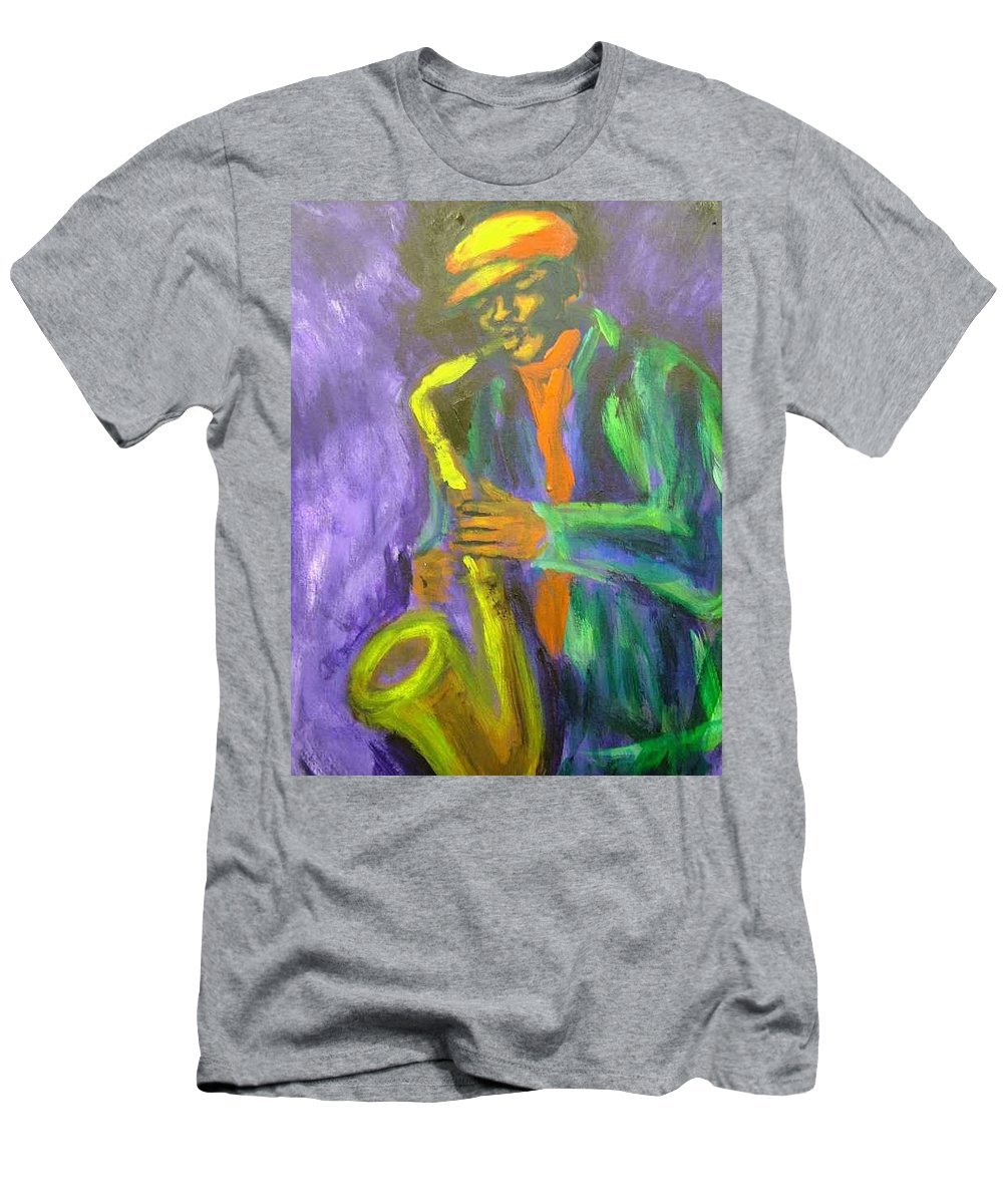 Painting Men's T-Shirt (Athletic Fit) featuring the painting The M by Jan Gilmore