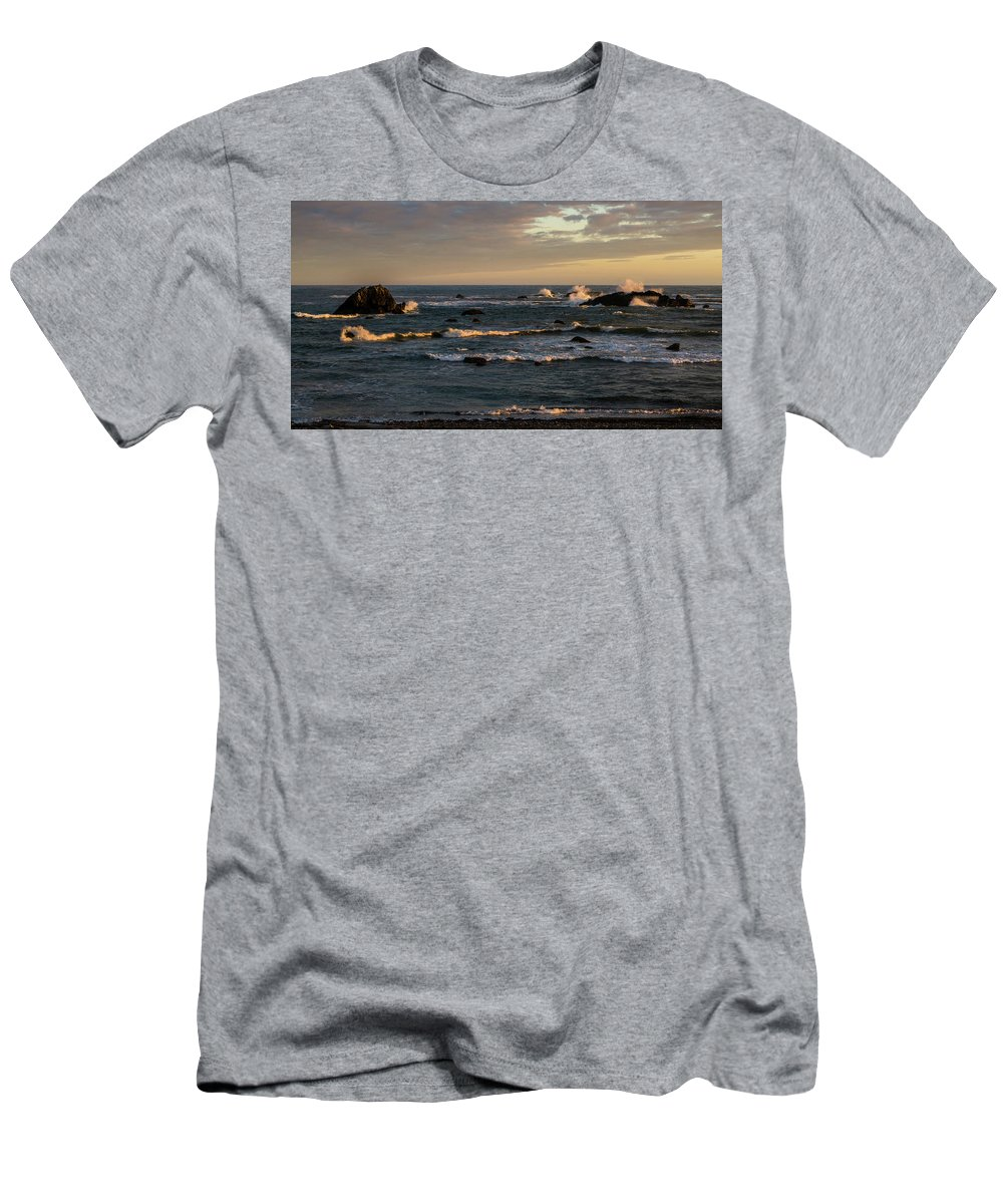 Pacific Ocean Men's T-Shirt (Athletic Fit) featuring the photograph Pacific Ocean After The Storm by TL Mair