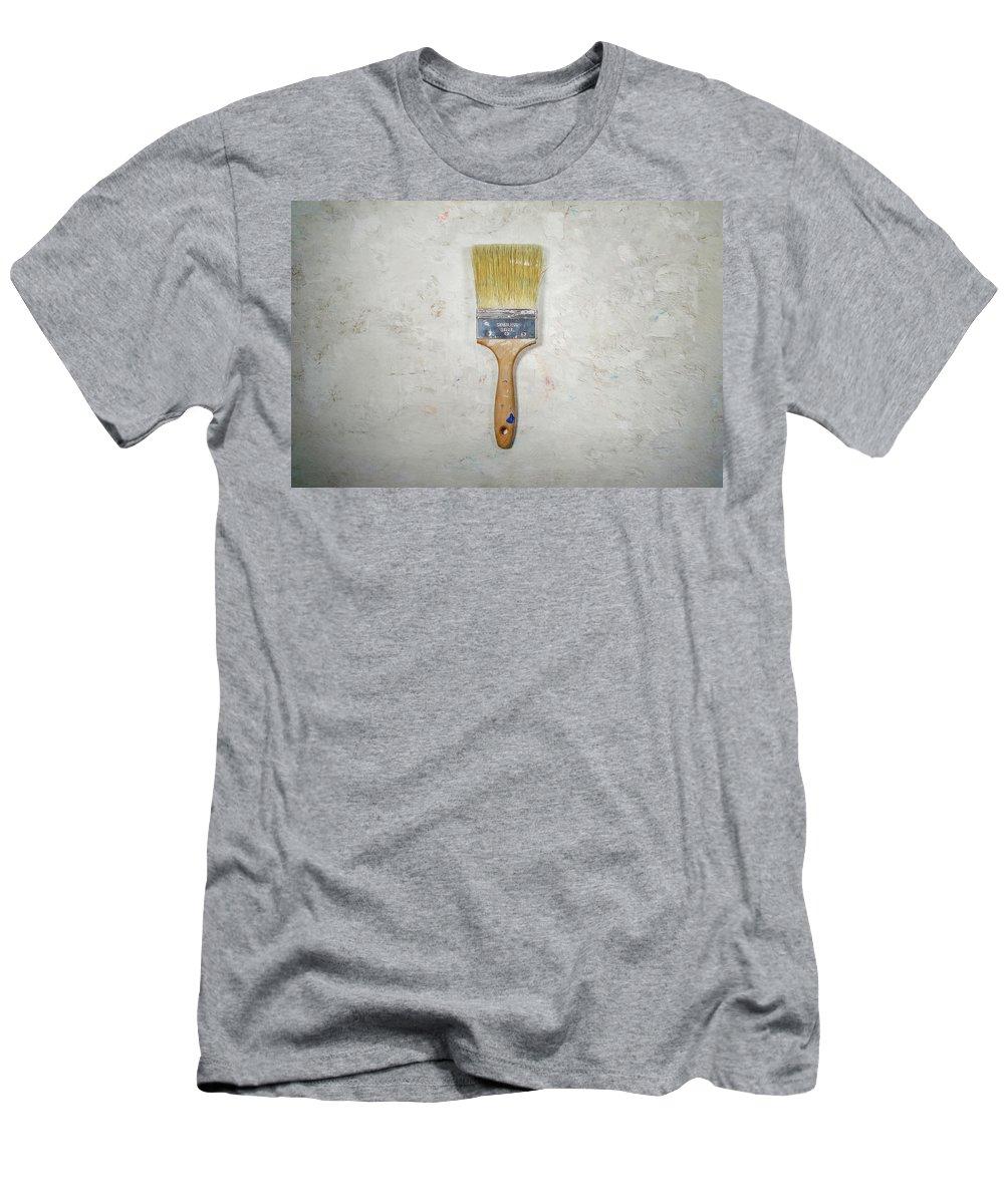 Paint Brush Men's T-Shirt (Athletic Fit) featuring the photograph Paint Brush by Scott Norris
