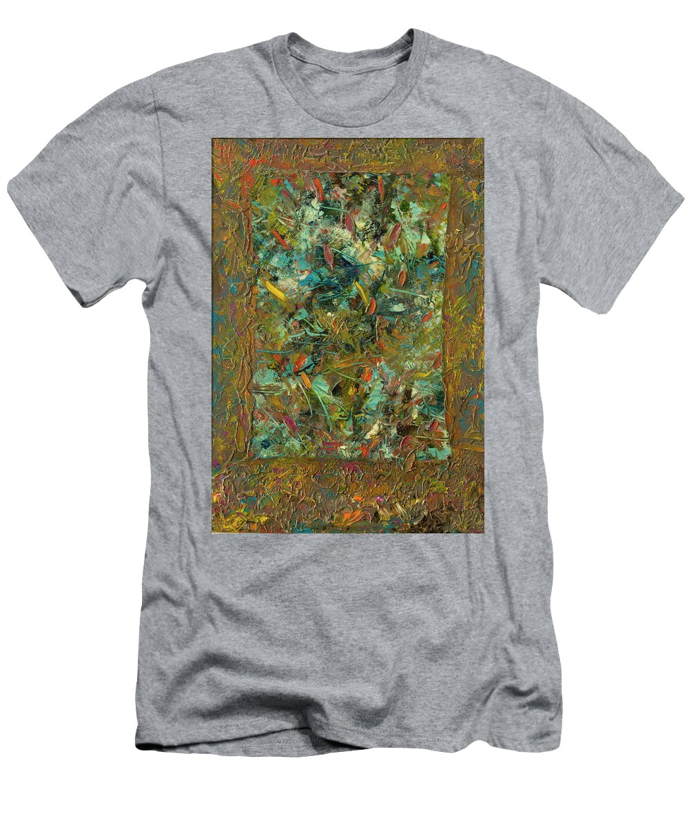 Abstract Men's T-Shirt (Athletic Fit) featuring the painting Paint Number 24 by James W Johnson