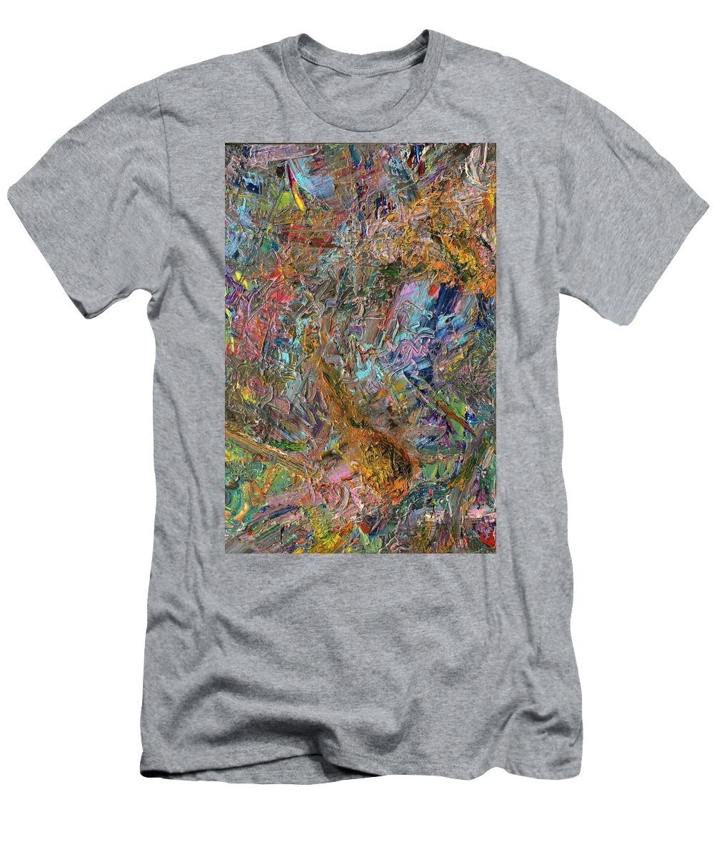 Abstract Men's T-Shirt (Athletic Fit) featuring the painting Paint Number 26 by James W Johnson