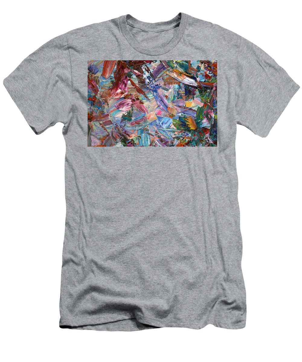 Abstract Men's T-Shirt (Athletic Fit) featuring the painting Paint Number 42-b by James W Johnson