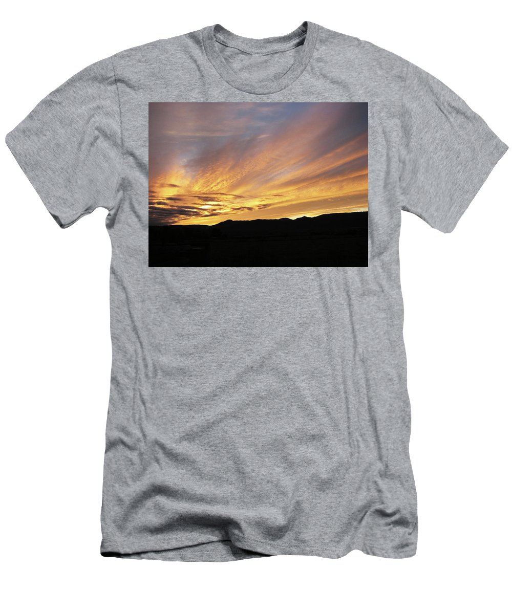 Yellow Men's T-Shirt (Athletic Fit) featuring the photograph Painted Beautiful by Teri Schuster