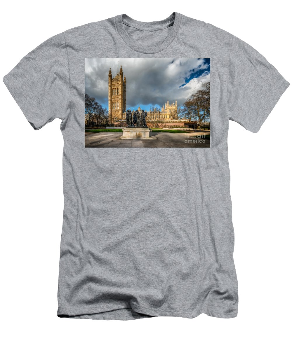 London Men's T-Shirt (Athletic Fit) featuring the photograph Palace Of Westminster by Adrian Evans