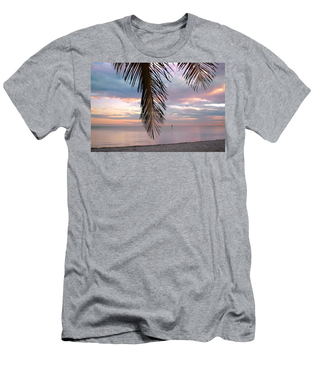 Palm Men's T-Shirt (Athletic Fit) featuring the photograph Palm Courtain II by Susanne Van Hulst