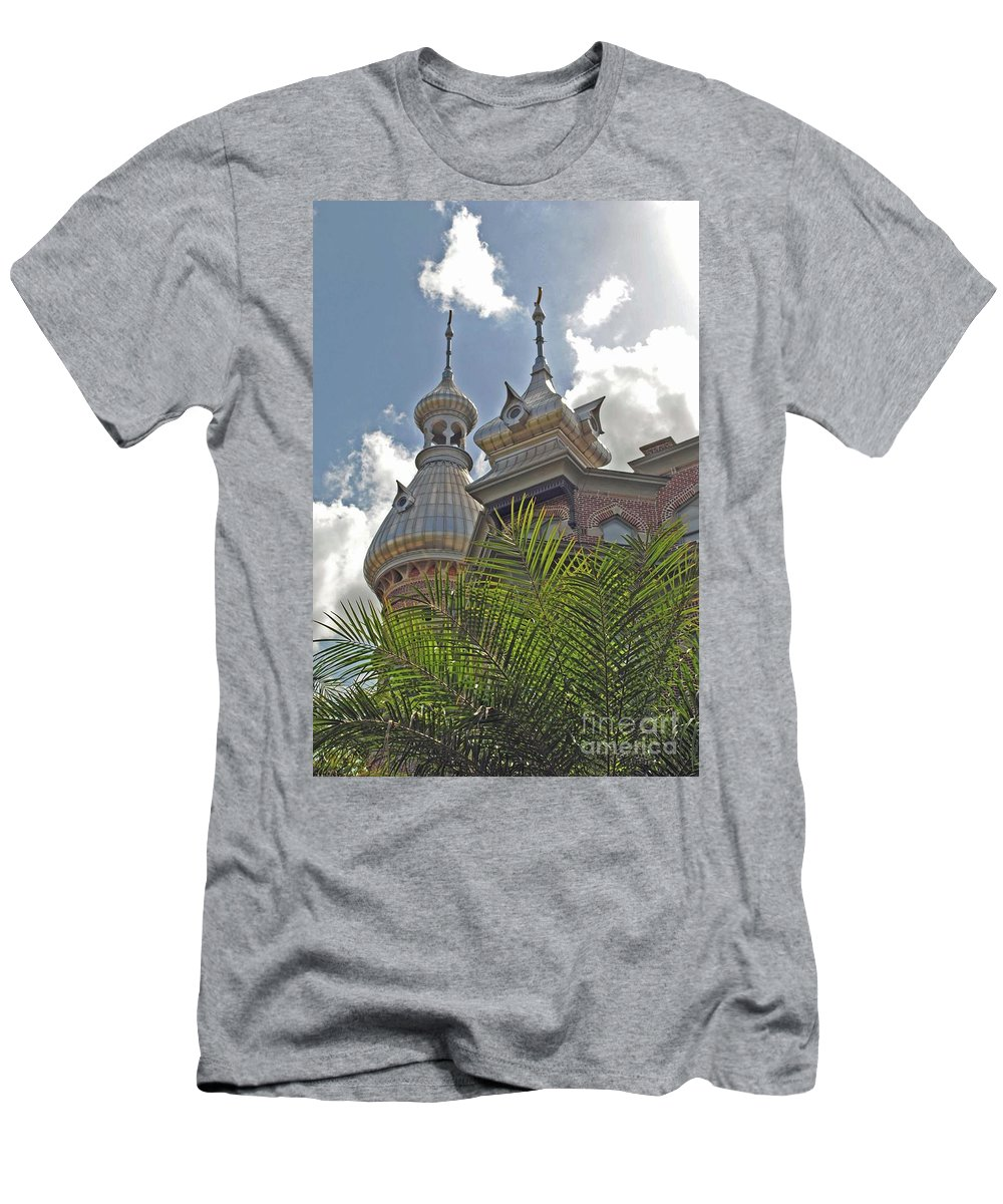 University Of Tampa Men's T-Shirt (Athletic Fit) featuring the photograph Palm Of The Dome by Jost Houk