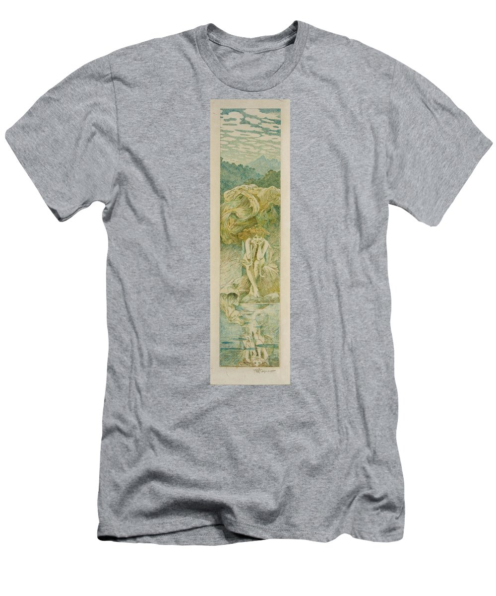 Alexandre De Riquer Men's T-Shirt (Athletic Fit) featuring the painting Palma De Mallorca by MotionAge Designs