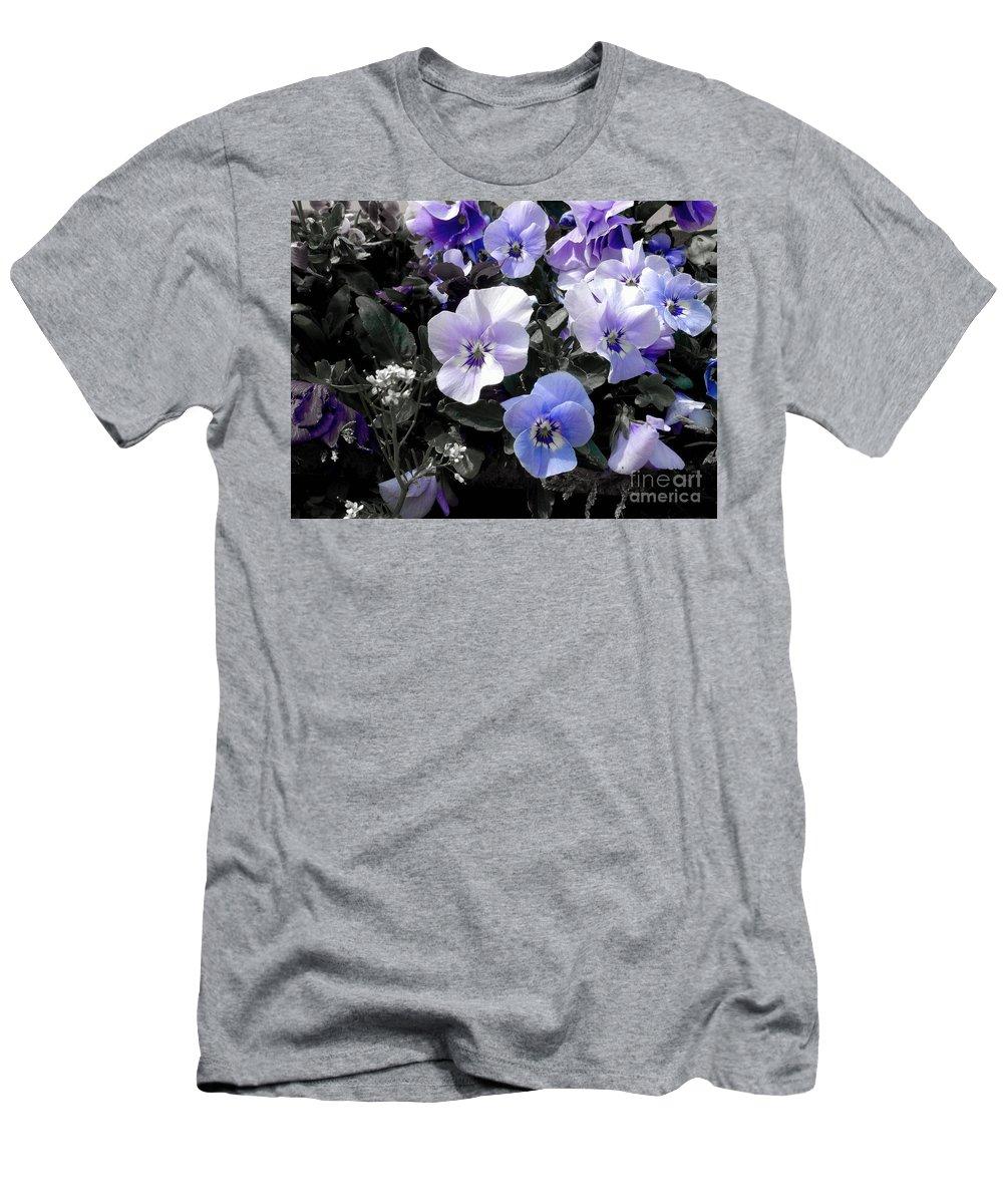Violas Men's T-Shirt (Athletic Fit) featuring the photograph Violas Ocean Dream by Joan-Violet Stretch