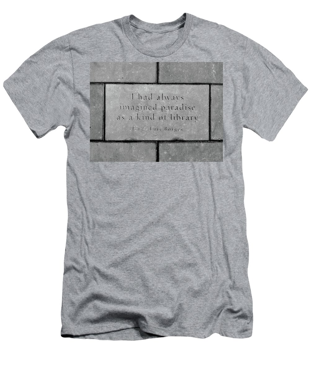 Quote Men's T-Shirt (Athletic Fit) featuring the photograph Paradise For Some by Angelina Vick