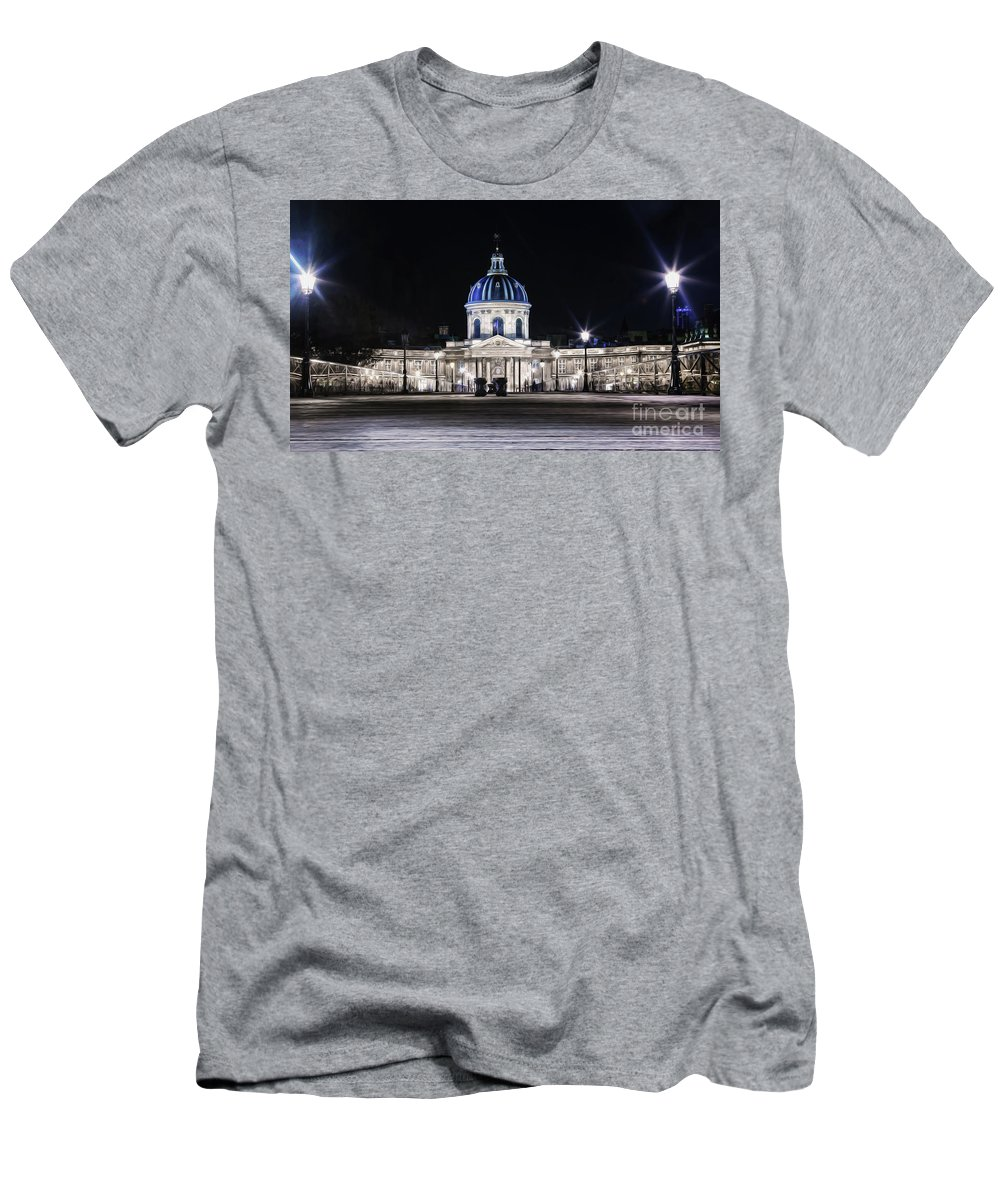 Paris Men's T-Shirt (Athletic Fit) featuring the photograph Paris At Night 20 by Alex Art and Photo
