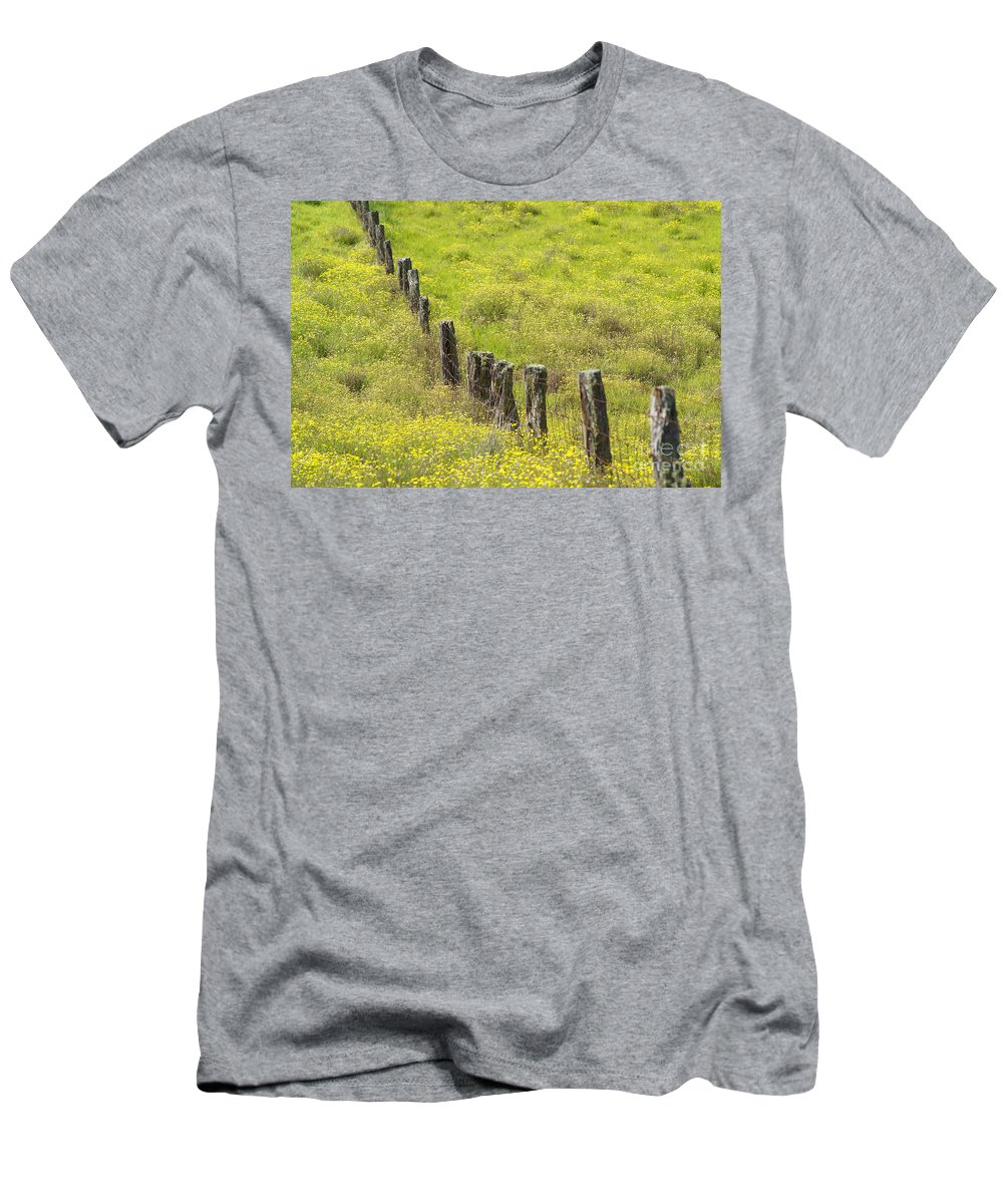 Abstract Men's T-Shirt (Athletic Fit) featuring the photograph Parker Ranch Fence by Carl Shaneff - Printscapes