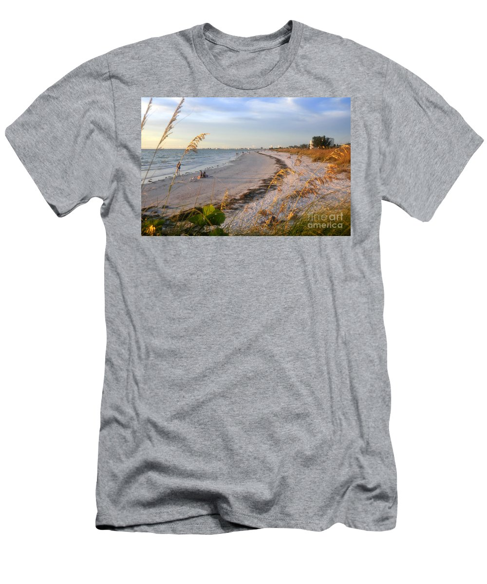 Pass A Grill Beach Florida Men's T-Shirt (Athletic Fit) featuring the photograph Pass A Grill Beach Florida by David Lee Thompson