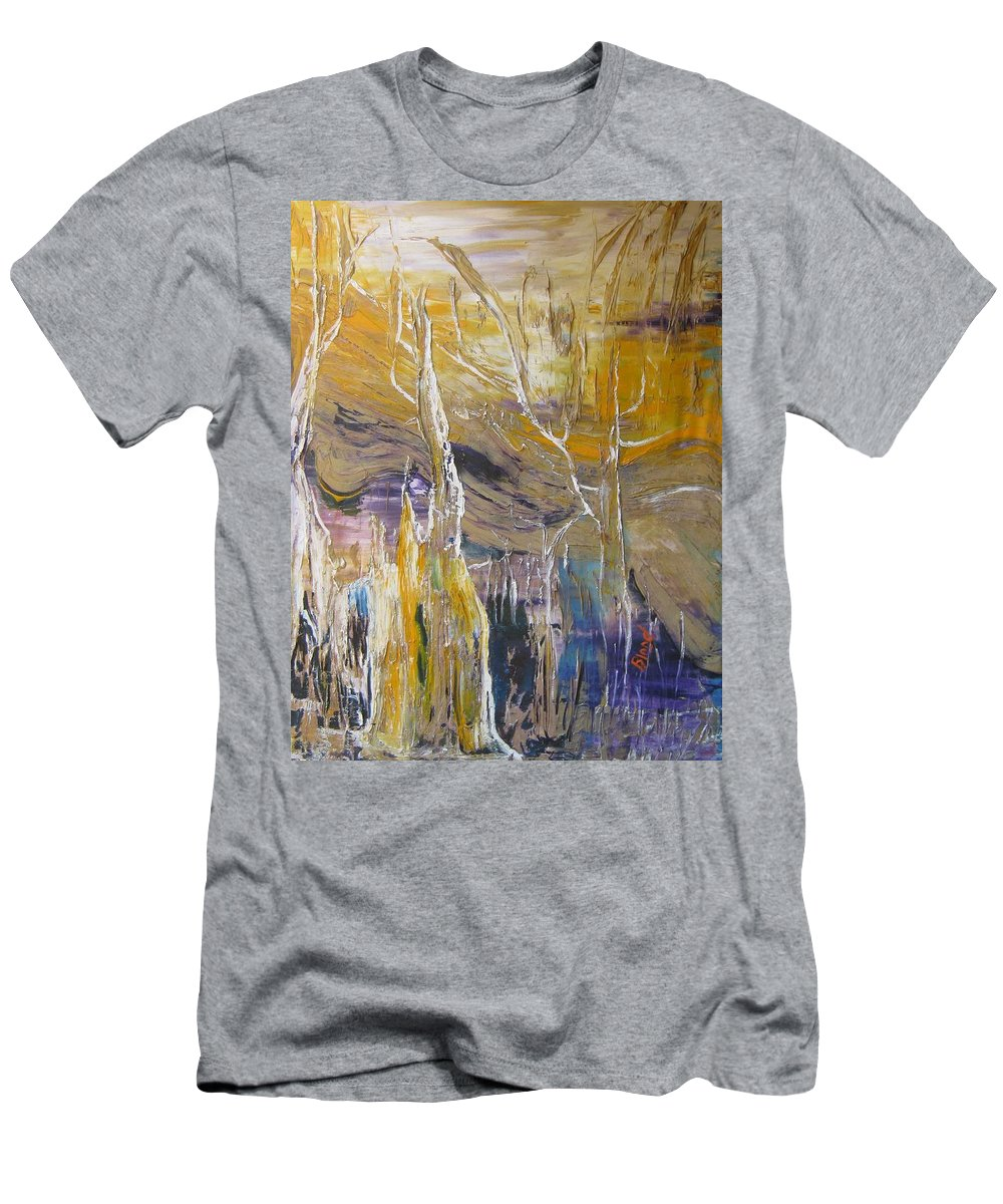 Swamp T-Shirt featuring the painting Passing Through by Peggy Blood