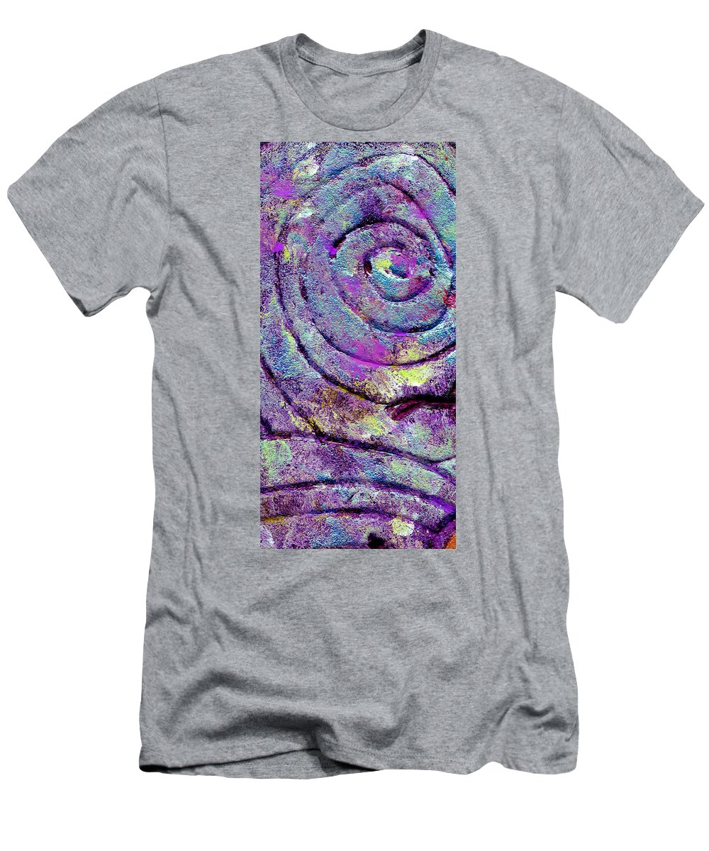 Abstract Men's T-Shirt (Athletic Fit) featuring the painting Passionate Swirl by Wayne Potrafka