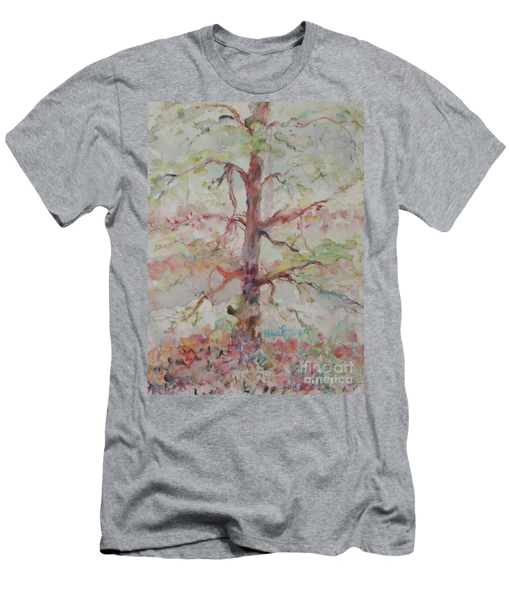 Forest Men's T-Shirt (Athletic Fit) featuring the painting Pastel Forest by Nadine Rippelmeyer