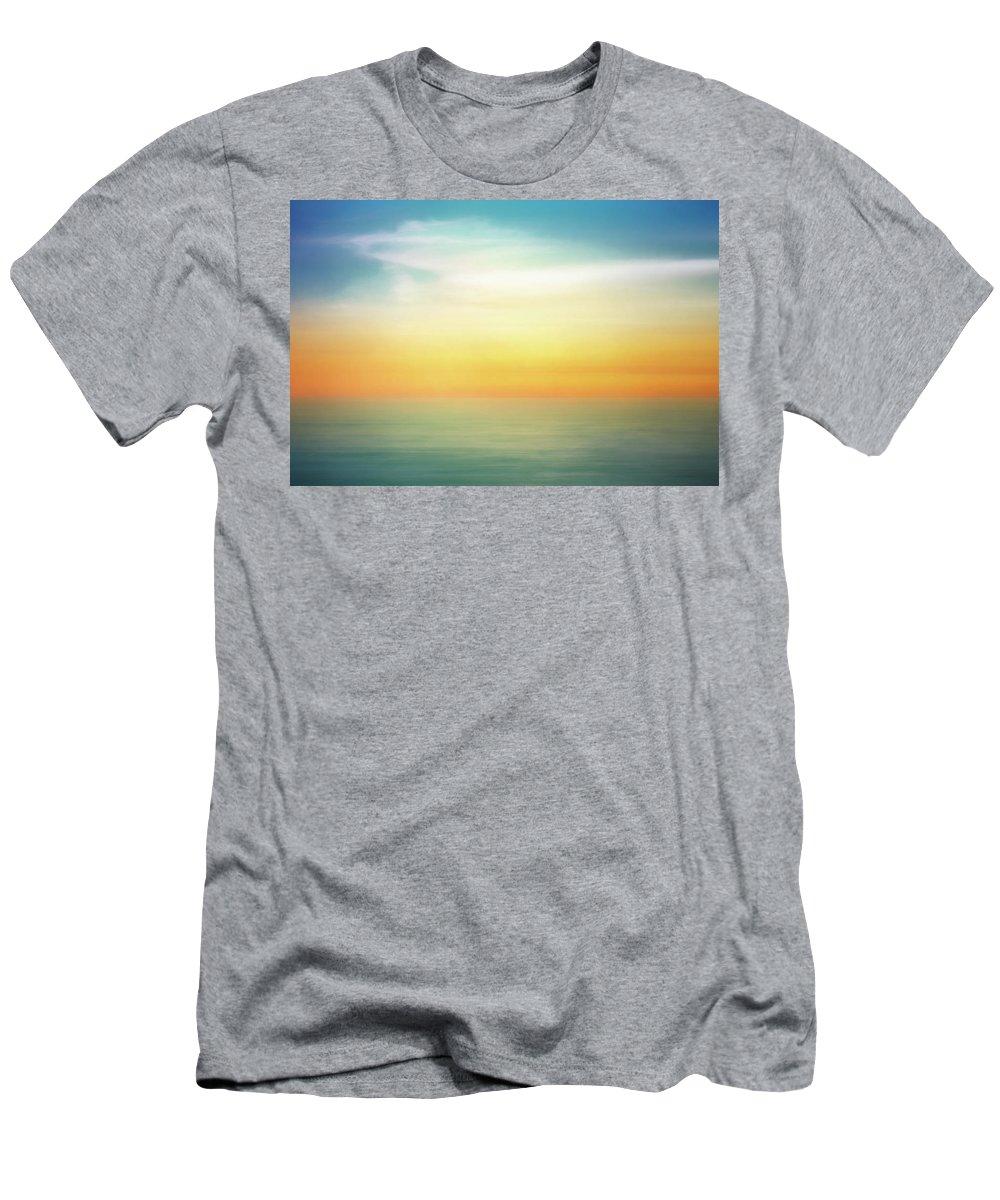 Pastel T-Shirt featuring the digital art Pastel Sunrise by Scott Norris
