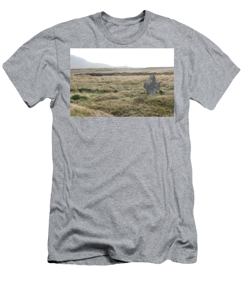 Midievil Men's T-Shirt (Athletic Fit) featuring the photograph Peaceful Rest by Kelly Mezzapelle