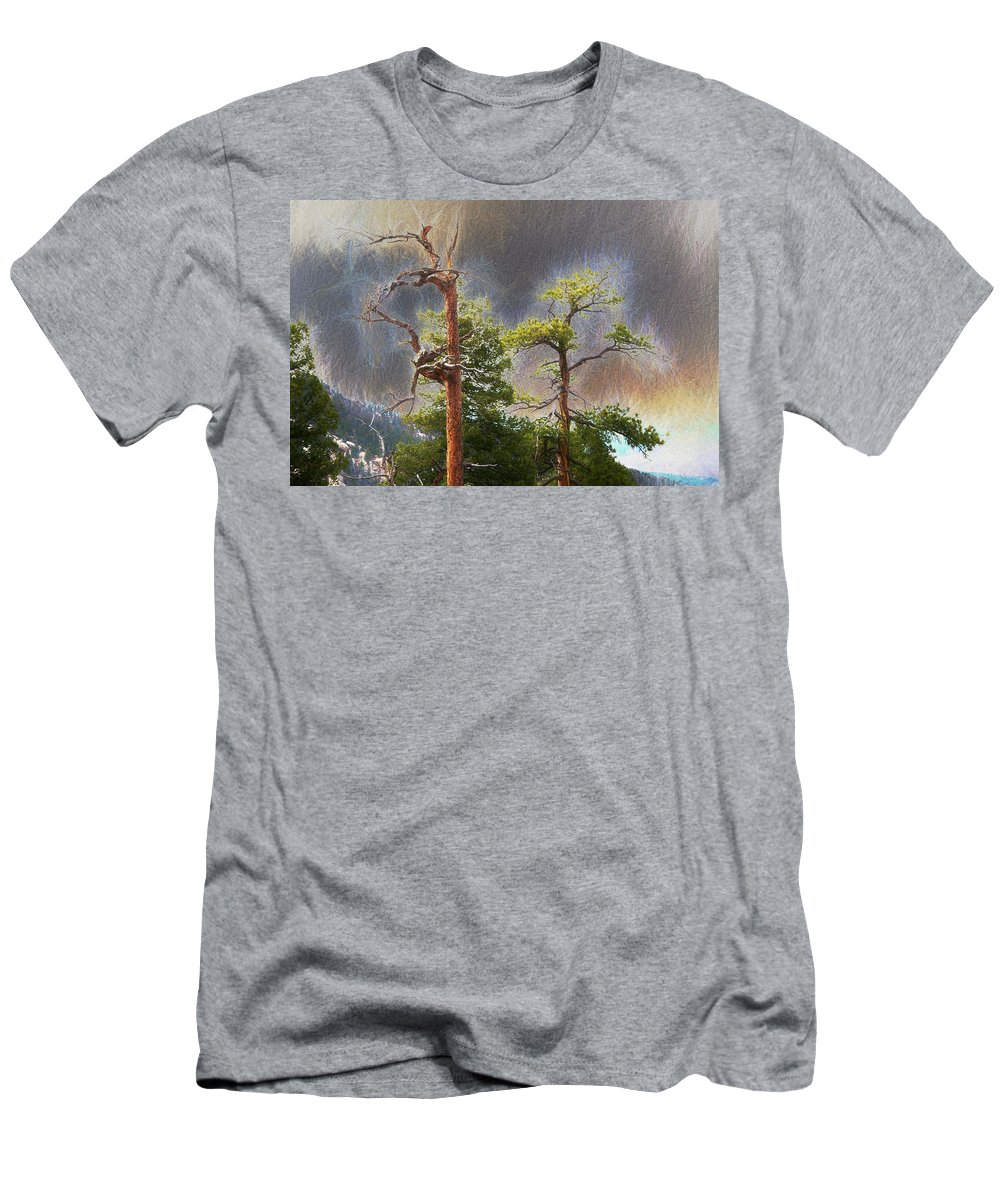 Photographs Framed Men's T-Shirt (Athletic Fit) featuring the photograph Peppers by Doug Johnston