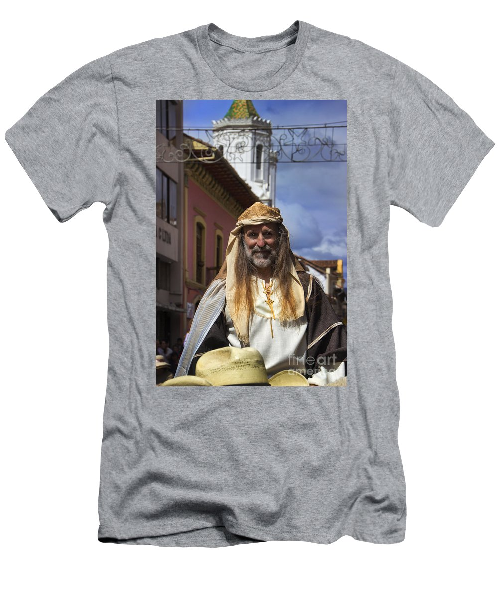 Peter Men's T-Shirt (Athletic Fit) featuring the photograph Peter On Horseback In The Pase Del Nino by Al Bourassa