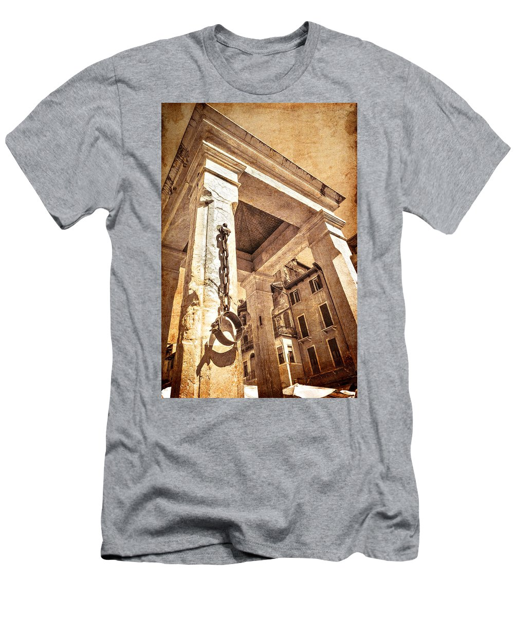 Architecture Men's T-Shirt (Athletic Fit) featuring the photograph Piazza Erbe by Maria Coulson