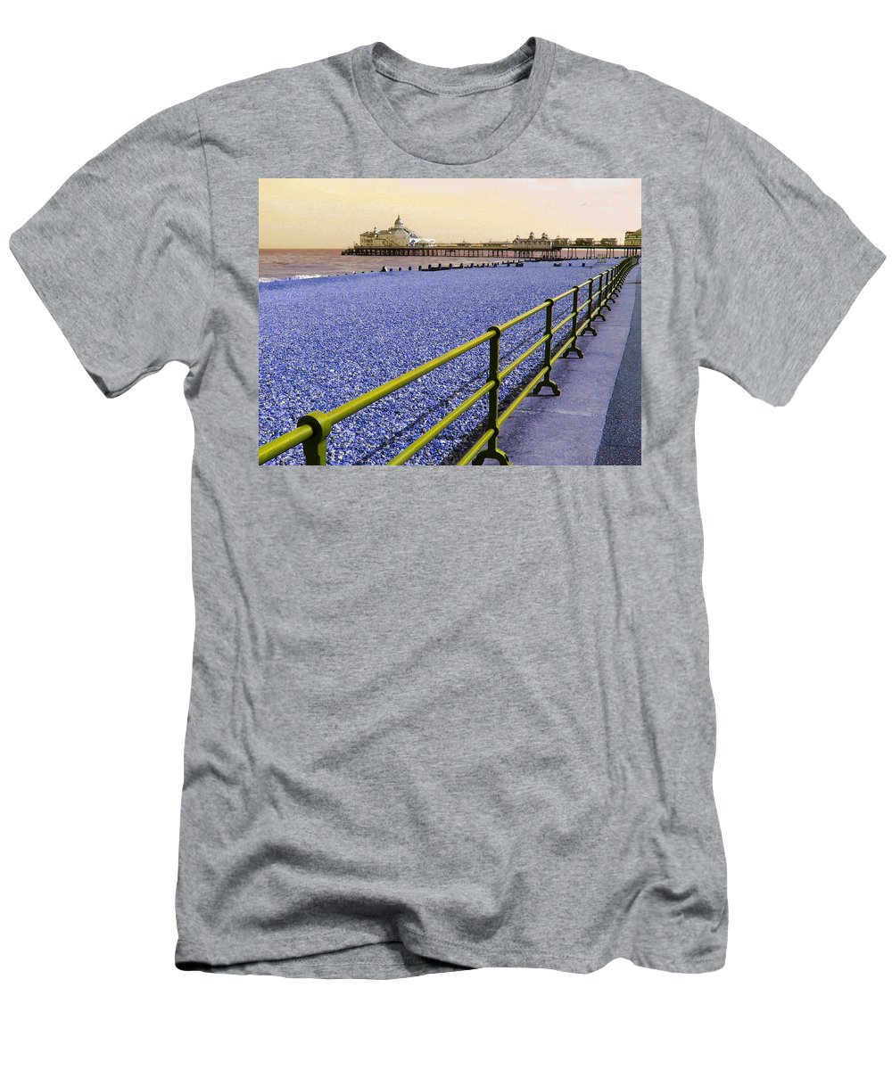 Pier Men's T-Shirt (Athletic Fit) featuring the photograph Pier View England by Heather Lennox
