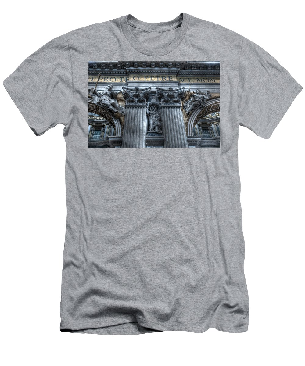 Italy Men's T-Shirt (Athletic Fit) featuring the photograph Pilares 1 by Miguel Pardo