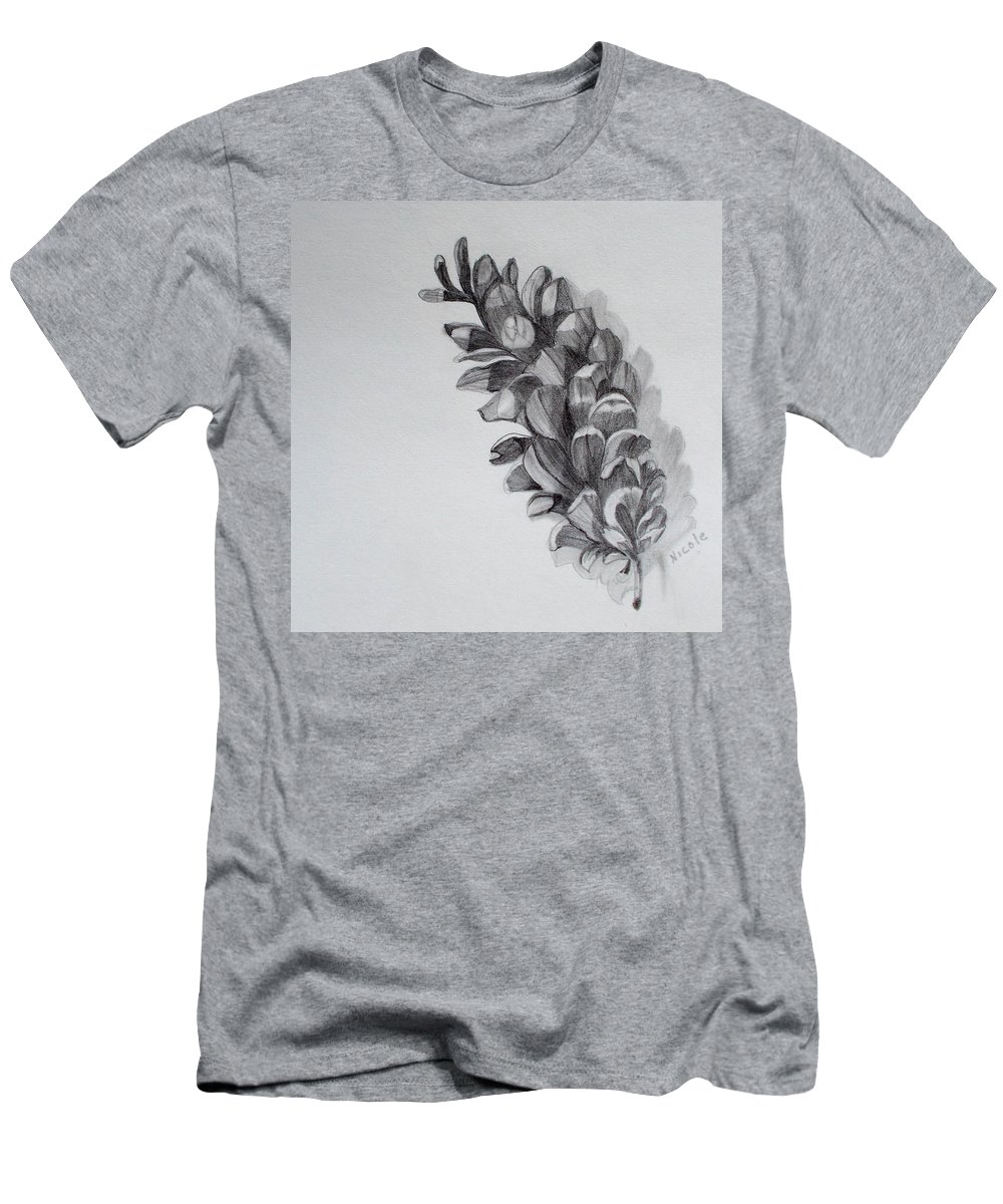 Pinecone Men's T-Shirt (Athletic Fit) featuring the drawing Pinecone by Nicole Curreri
