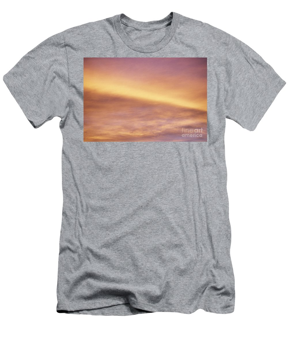 Air Men's T-Shirt (Athletic Fit) featuring the photograph Pink And Yellow Sky by Carl Shaneff - Printscapes