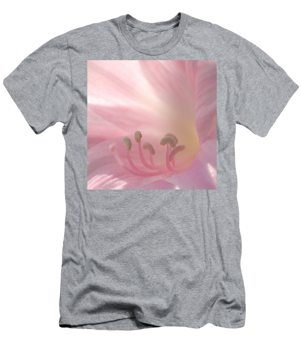 Flower Men's T-Shirt (Athletic Fit) featuring the photograph Pink Flower by Jill Reger