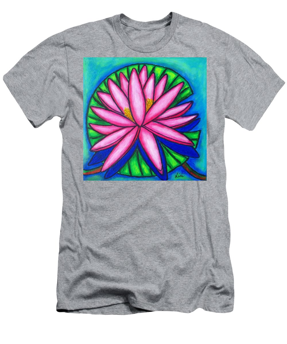Water Lilies T-Shirt featuring the painting Pink Gem 2 by Lisa Lorenz