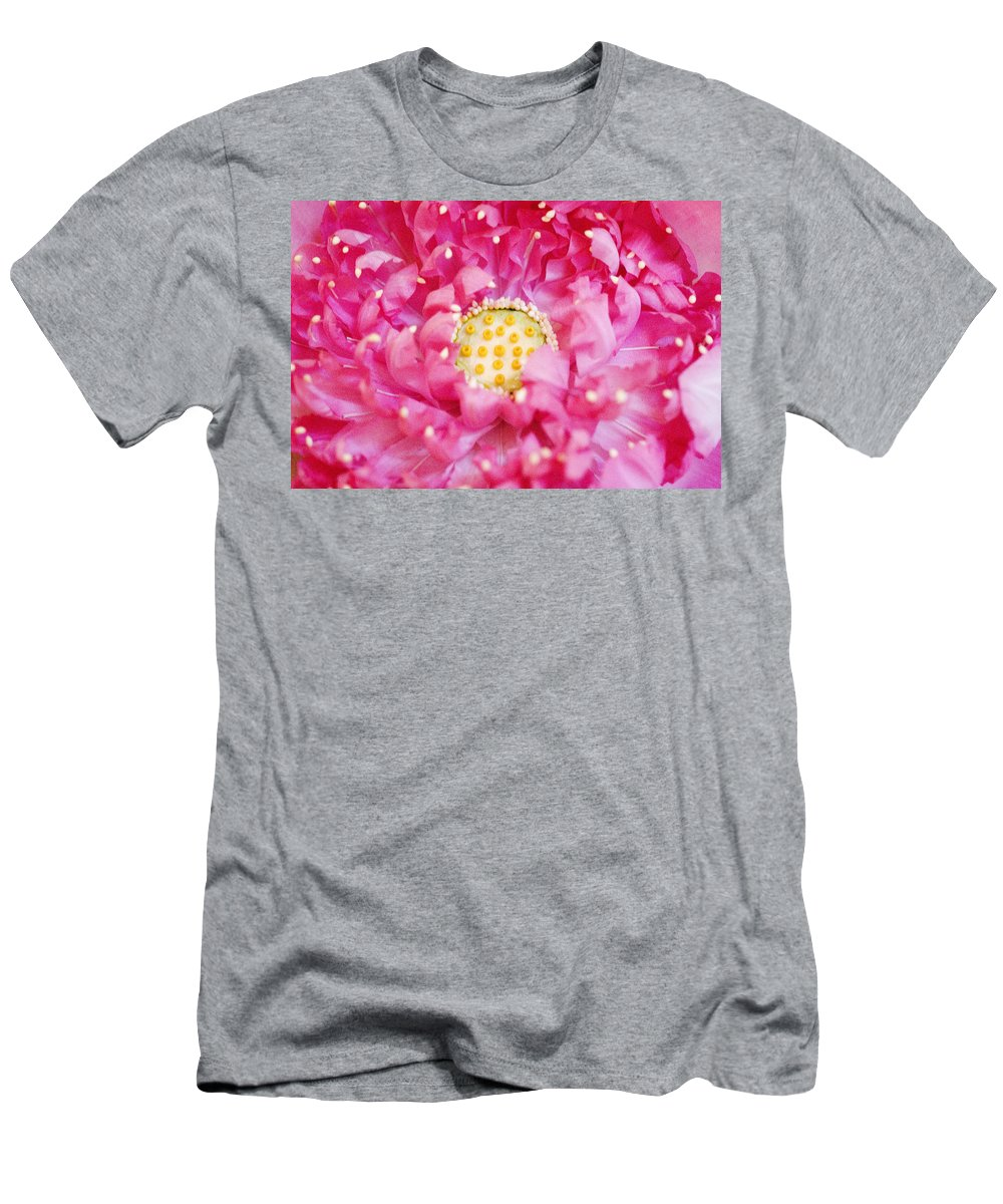 Bangkok Men's T-Shirt (Athletic Fit) featuring the photograph Pink Lotus by Ray Laskowitz - Printscapes