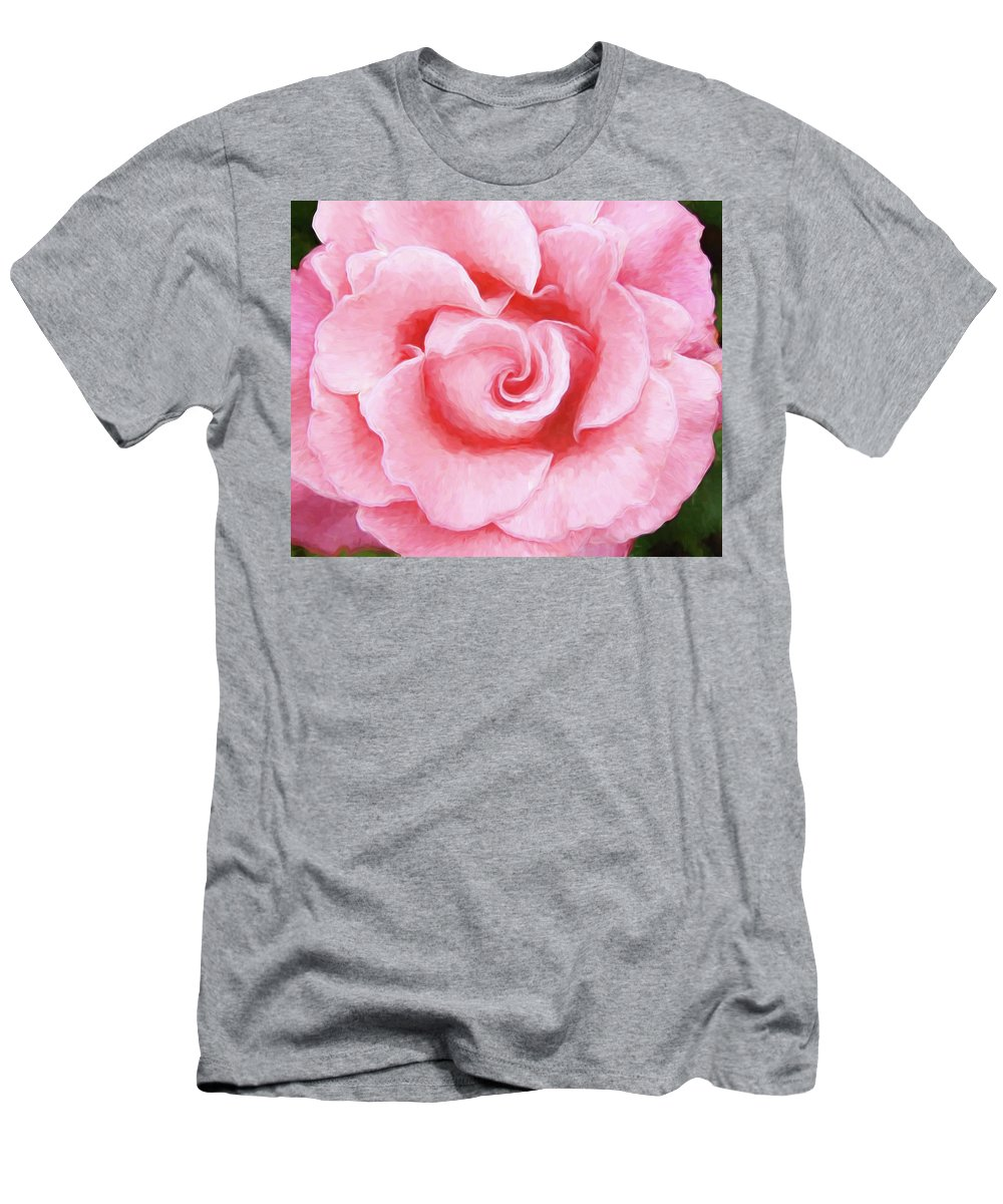 Pink Rose Men's T-Shirt (Athletic Fit) featuring the photograph Pink Rose by Allen Beatty