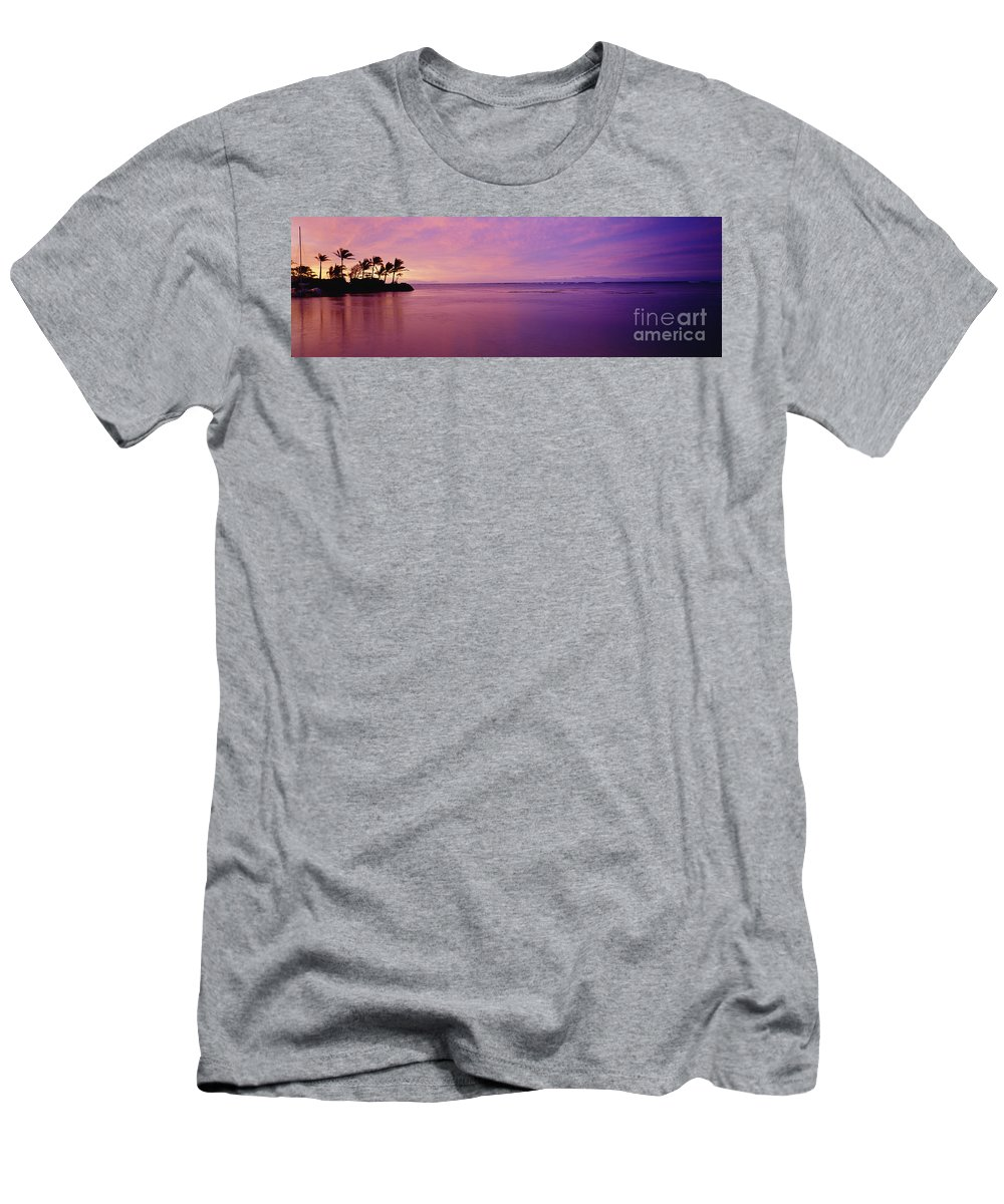 Beautiful Men's T-Shirt (Athletic Fit) featuring the photograph Pink Sunset Over The Ocean by David Cornwell/First Light Pictures, Inc - Printscapes