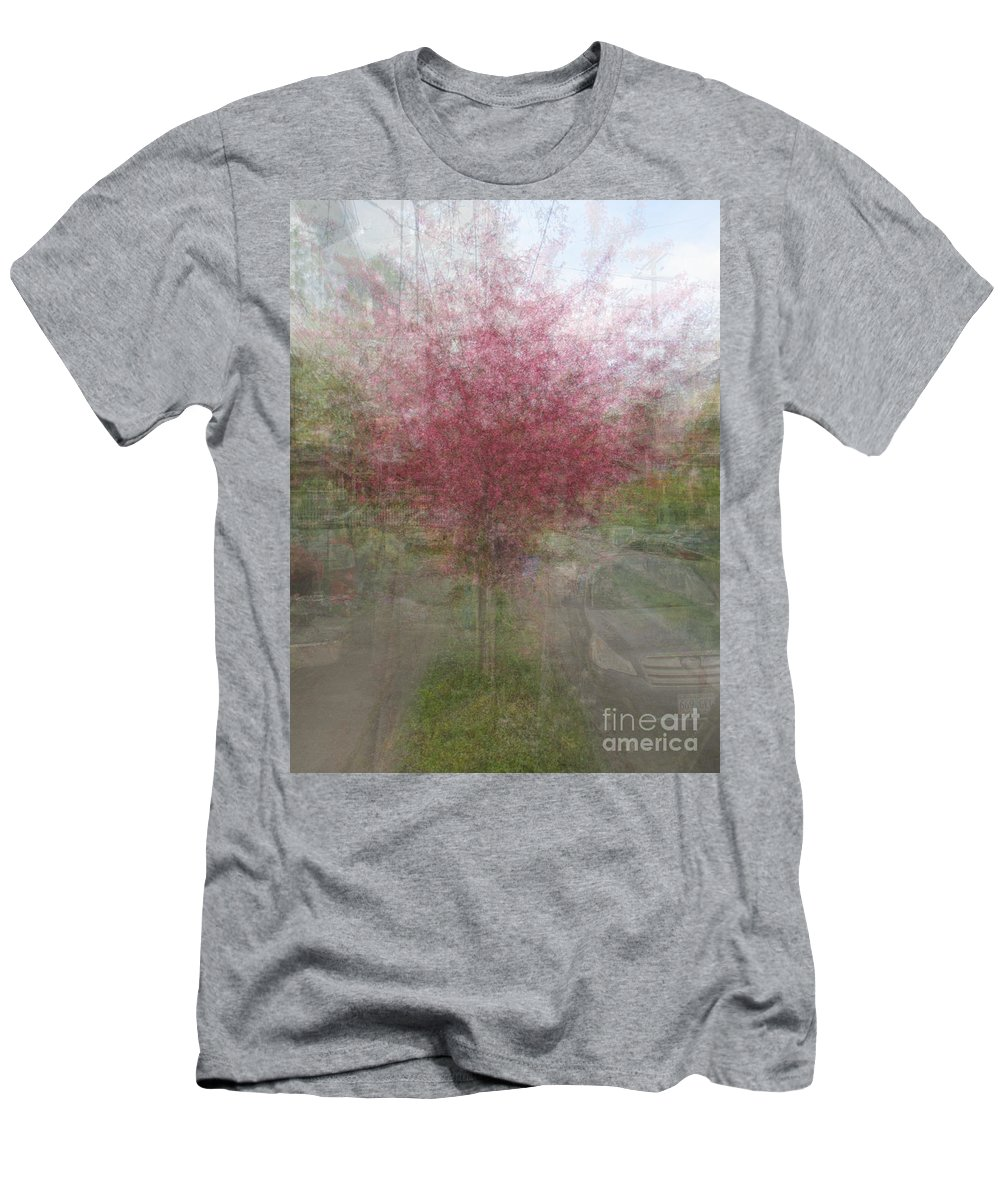Impressionist Men's T-Shirt (Athletic Fit) featuring the photograph Pink Trees by Robert Hauss