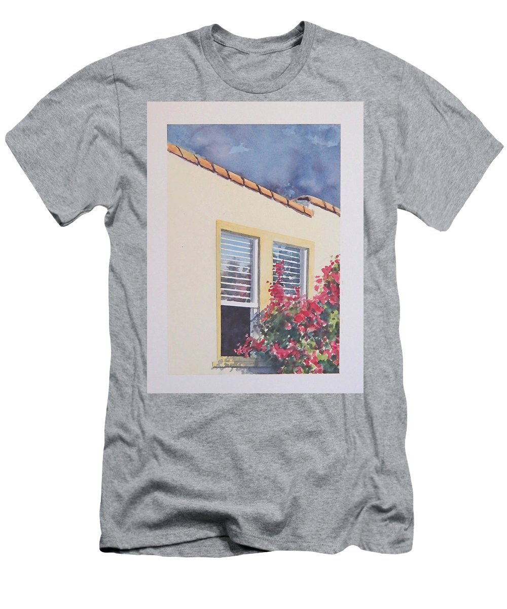 Cottage T-Shirt featuring the painting Pismo Cottage by Philip Fleischer