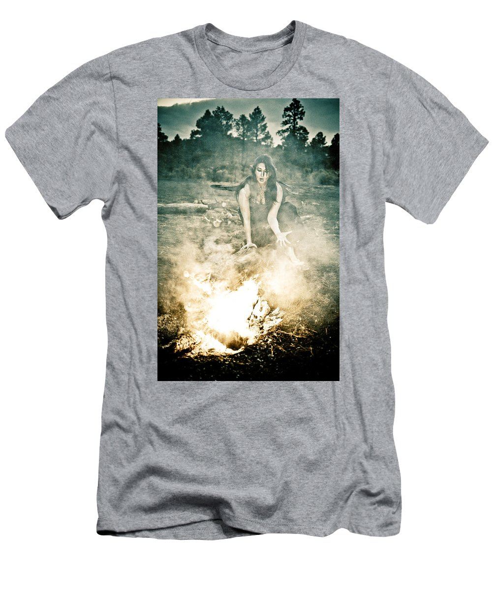 Pixie Men's T-Shirt (Athletic Fit) featuring the photograph Pixie Smoke by Scott Sawyer