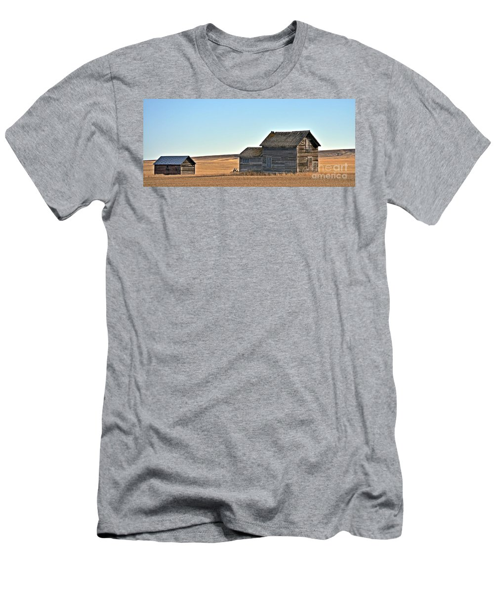Plains Homestead Men's T-Shirt (Athletic Fit) featuring the photograph Plains Homestead by Chalet Roome-Rigdon