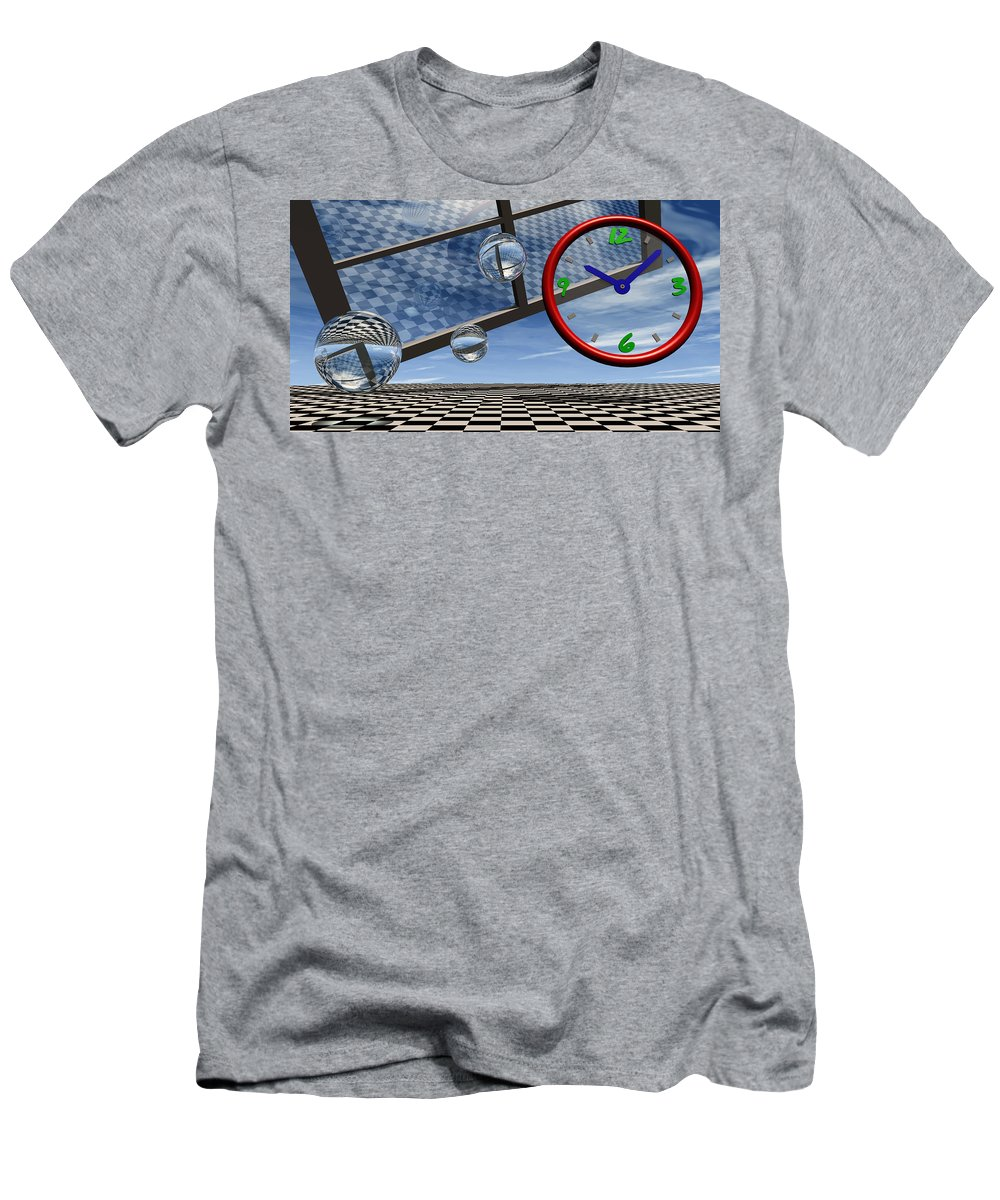Surreal Men's T-Shirt (Athletic Fit) featuring the digital art Play Time by Richard Rizzo