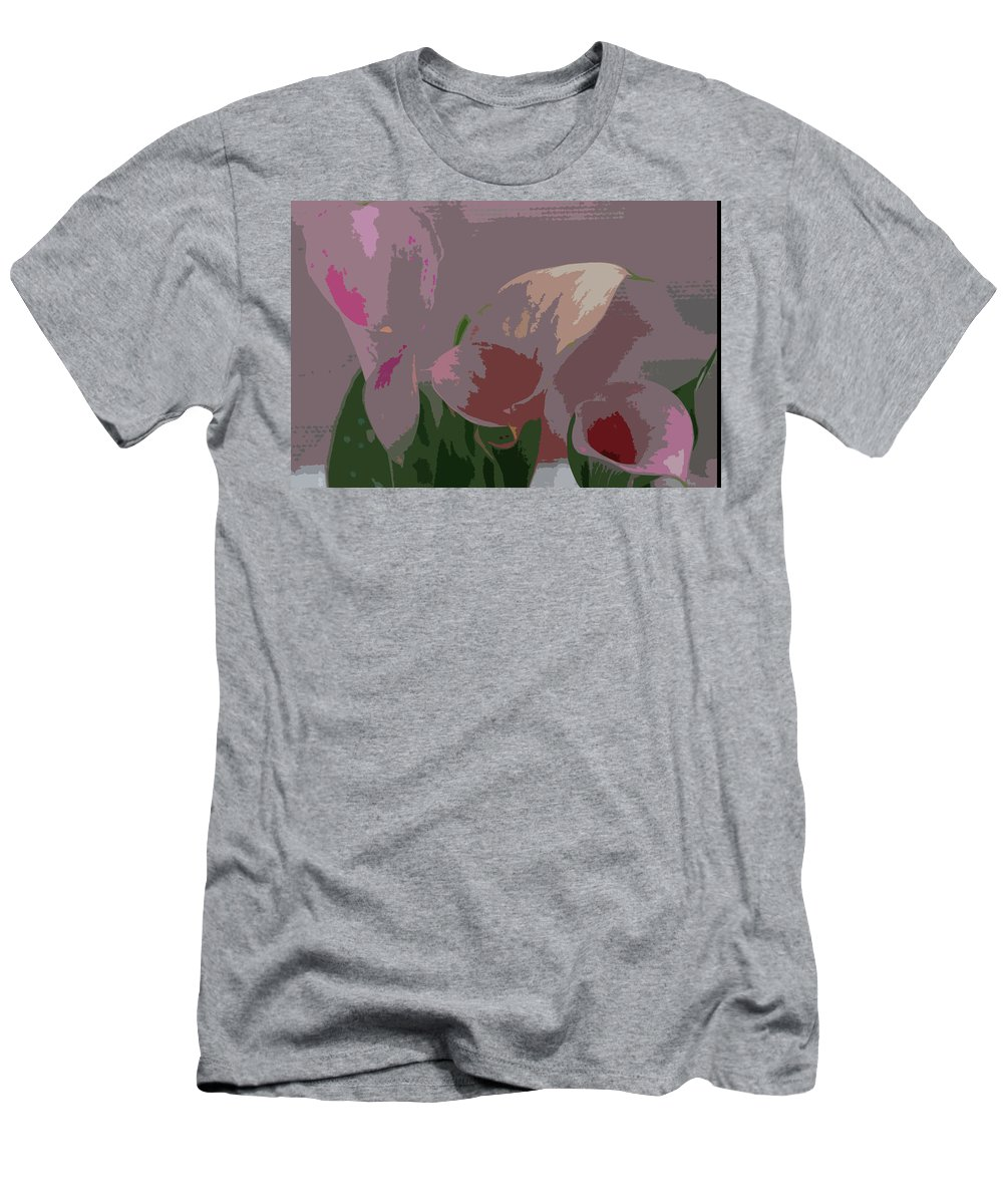 Earth\'s Flowers Men's T-Shirt (Athletic Fit) featuring the photograph Players by Carol Eliassen