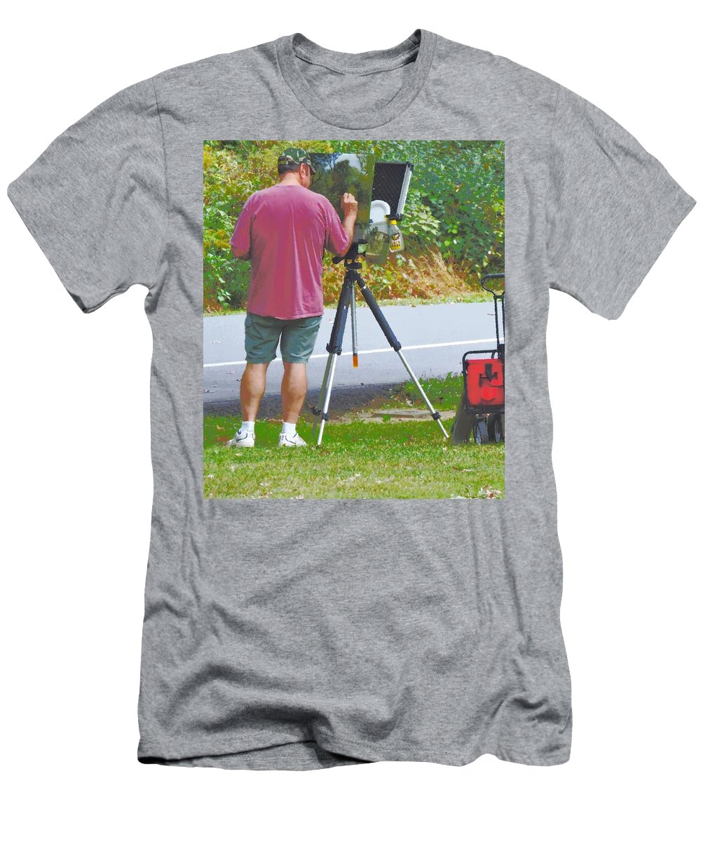Plein Air Men's T-Shirt (Athletic Fit) featuring the photograph Plein Air L'automne by Tami Quigley