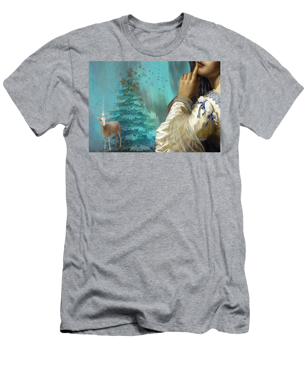 Portraiture T-Shirt featuring the painting Pondering Peace by Laura Botsford