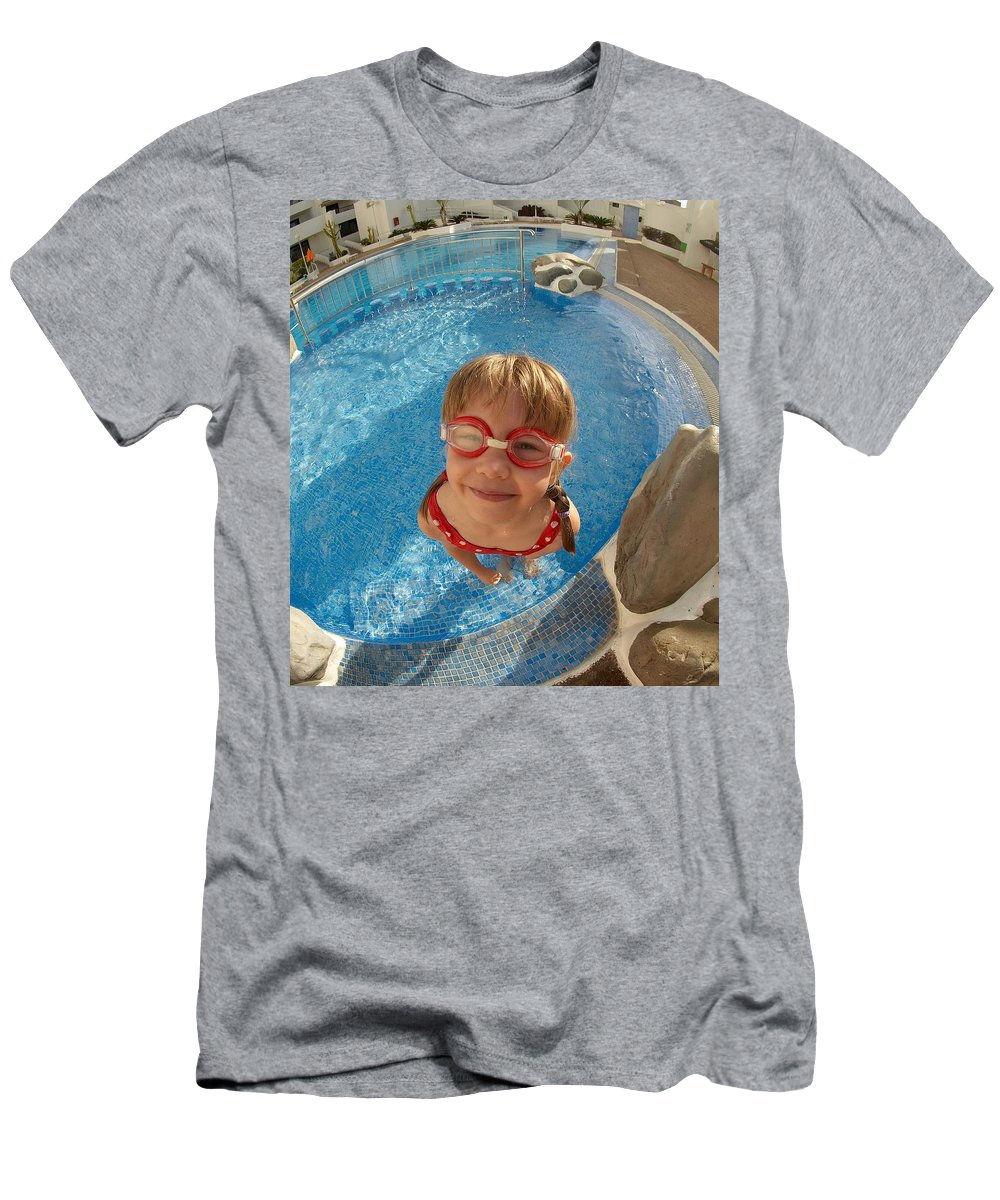 Tenerife Men's T-Shirt (Athletic Fit) featuring the photograph Pool Tester by Jouko Lehto