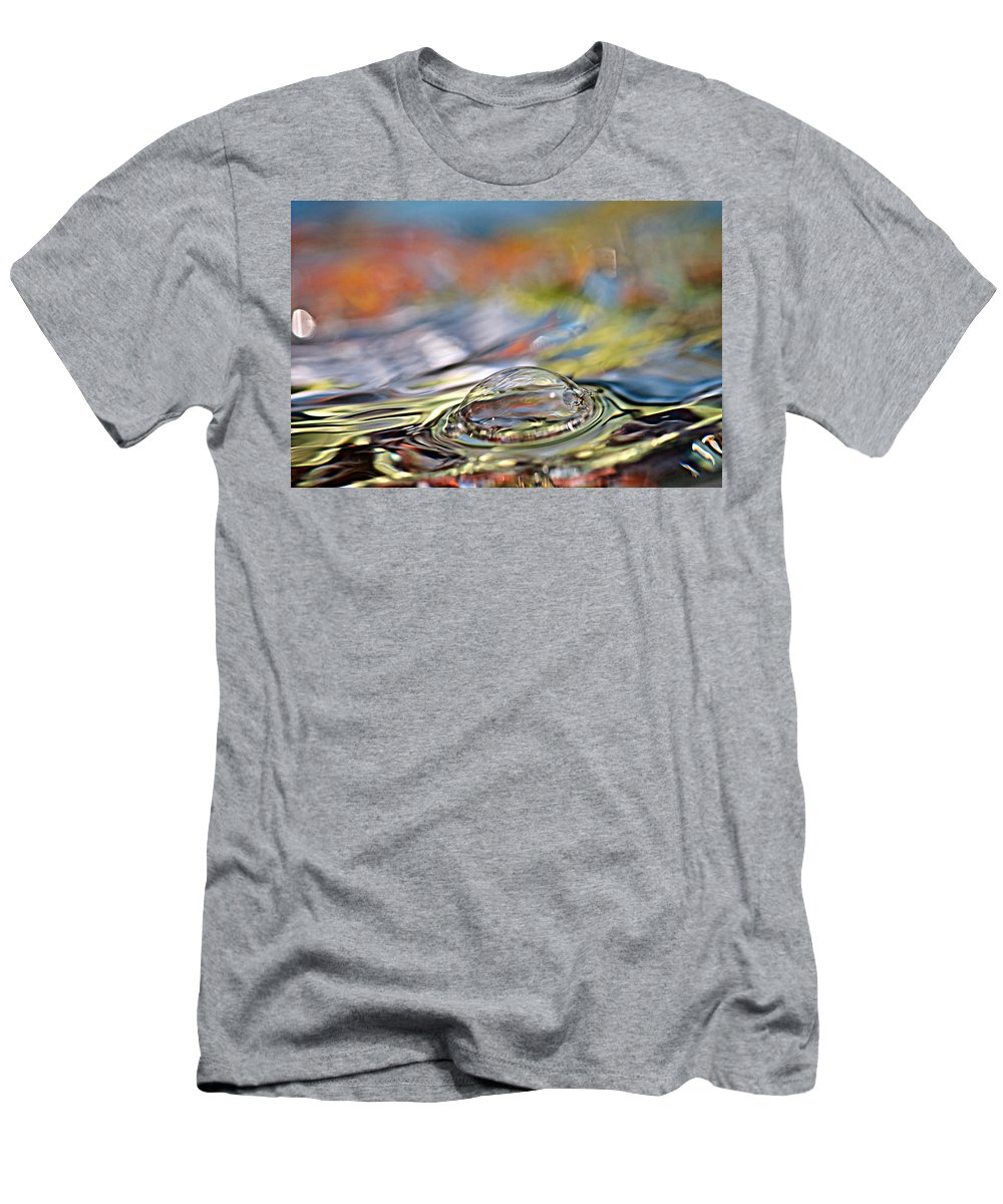 Water Men's T-Shirt (Athletic Fit) featuring the photograph Pop Me by Lisa Knechtel