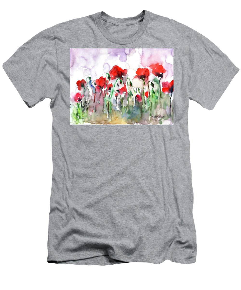 Poppies Men's T-Shirt (Athletic Fit) featuring the painting Poppies by Faruk Koksal