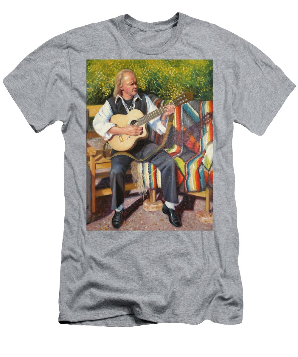 Realism Men's T-Shirt (Athletic Fit) featuring the painting Por Tu Amor by Donelli DiMaria